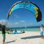 großer Kite am Strand