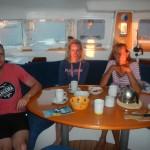 Sonnenuntergang auf Boot